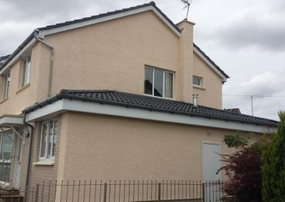 roughcasted house in Livingston, West Lothian