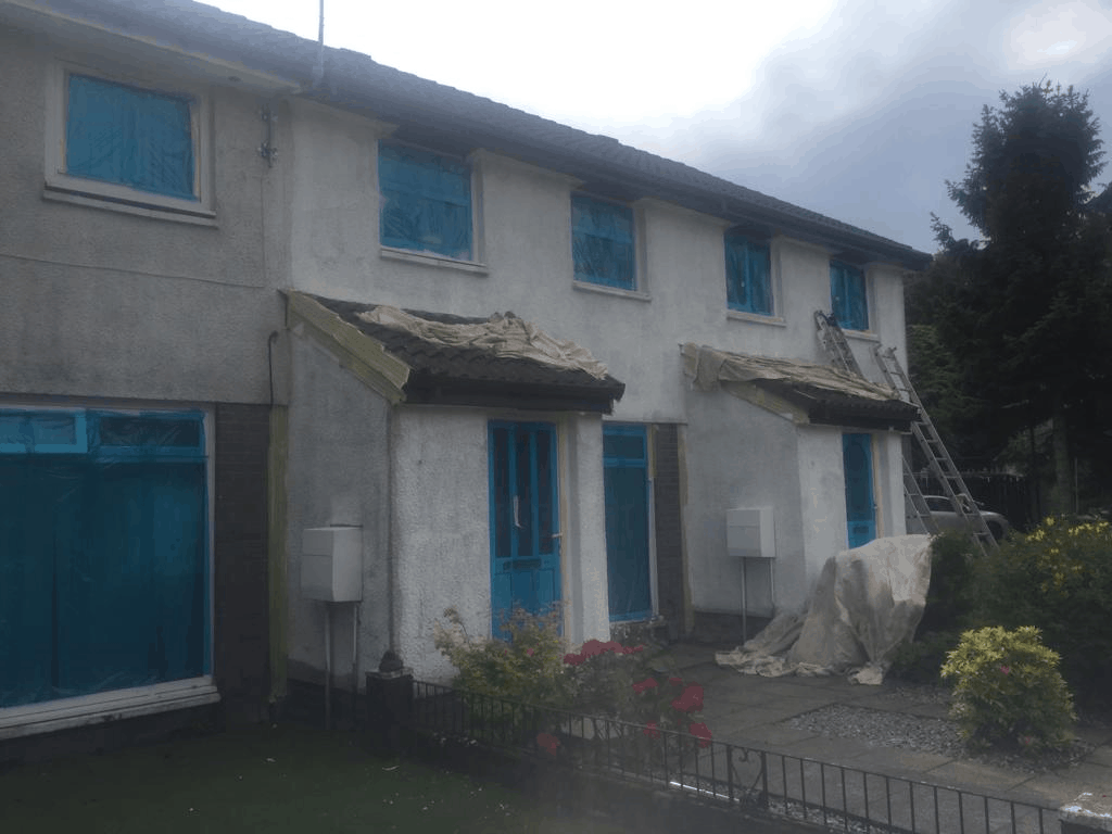 exterior wall coating & painters Glasgow