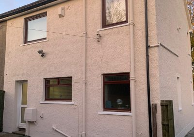 roughcast house in Paisley