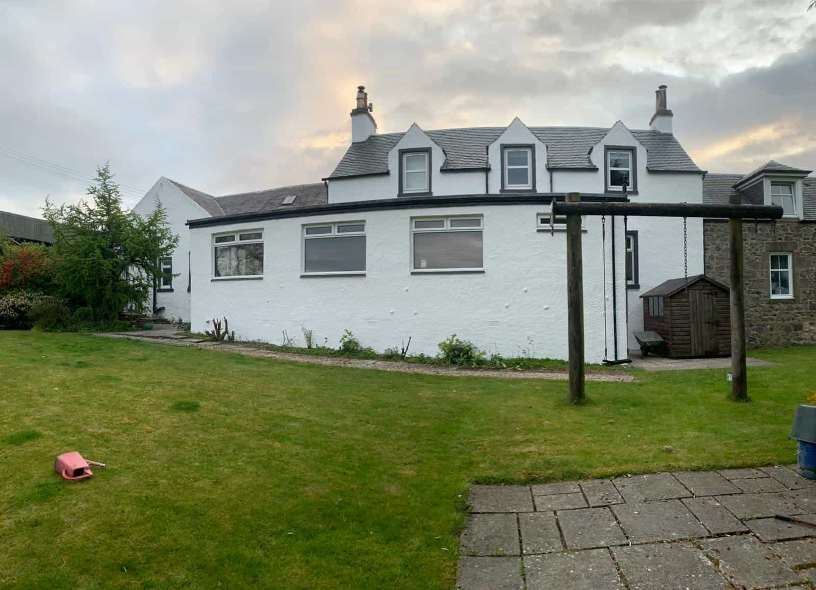 after exterior wall coating Inverclyde